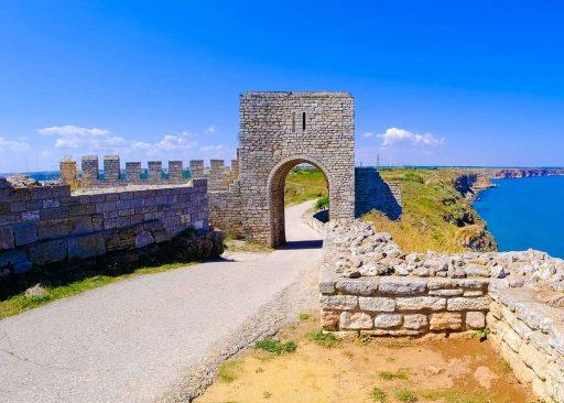 A Kaliakra-fok erődjének egyik kapuja