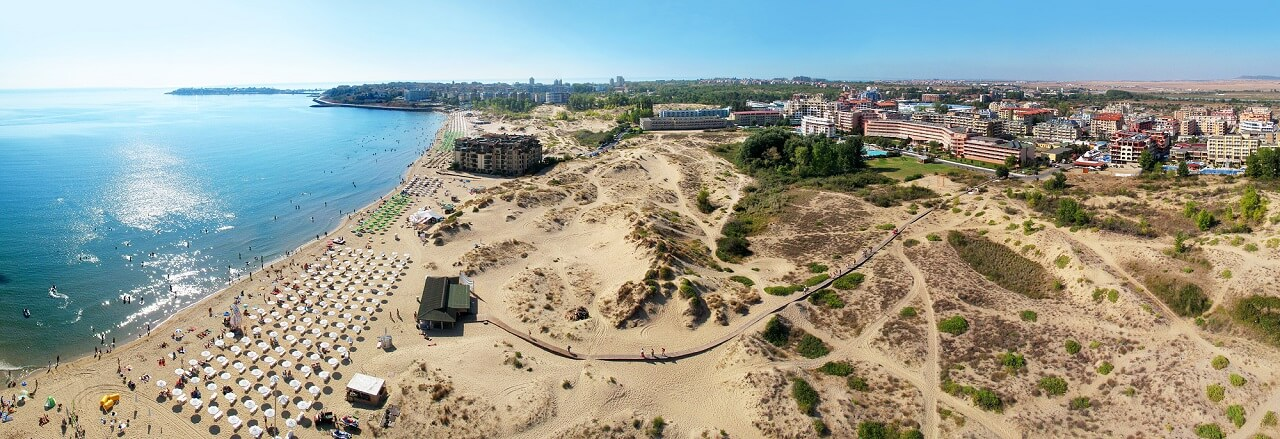 Napospart homokdűnéi